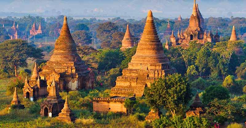 Myanmar landscape near Thailand