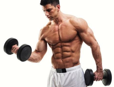 guy lifitng dumbbell weights