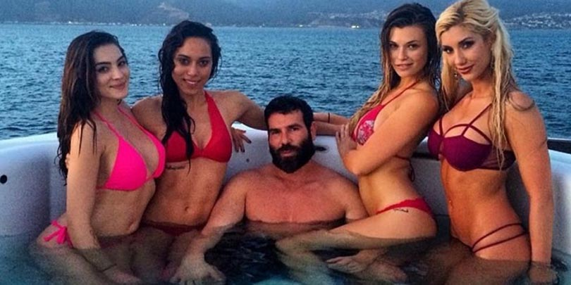 Dan Bilzerian with four hot chicks on a yacht