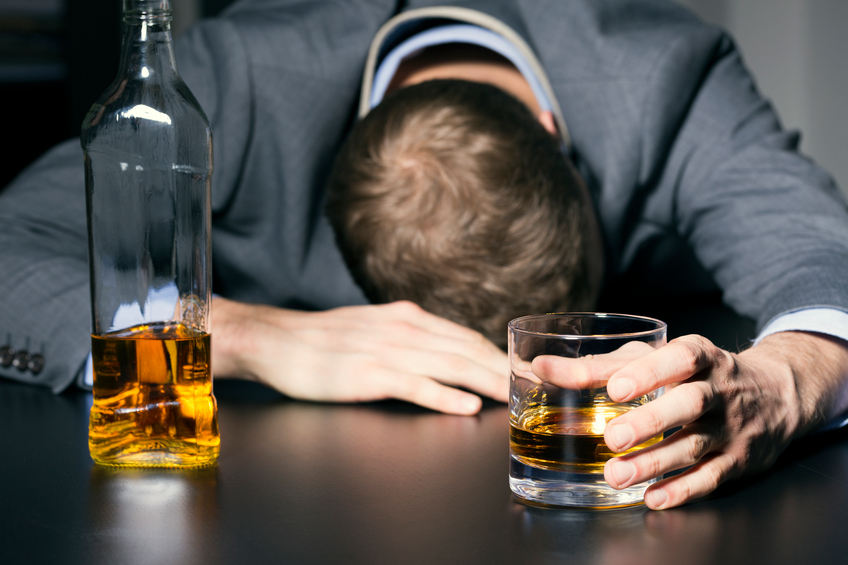 a man addicted to alcohol