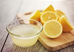 lemon squeezed into lemon juice