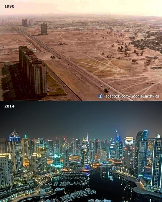 Dubai then vs now. we've come a long way