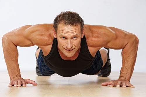man getting a light workout