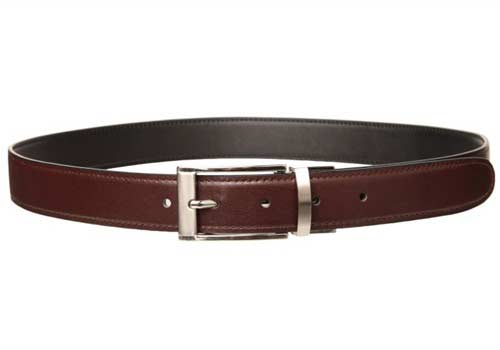 An example of a brown leather belt that can be used for your extender device.