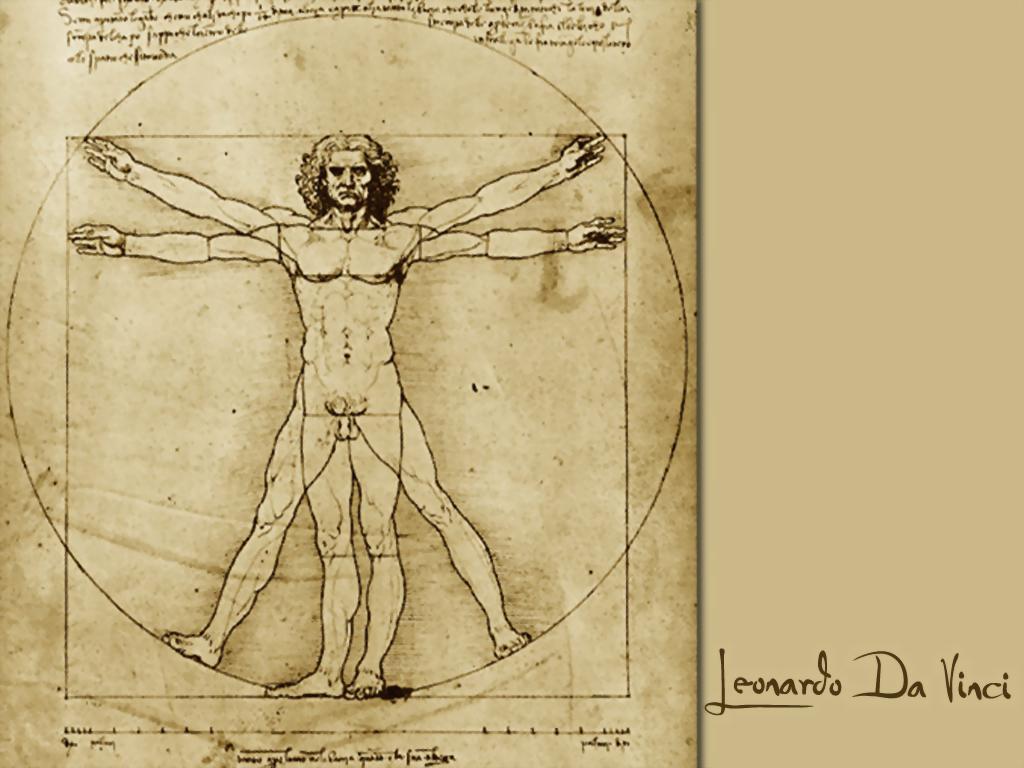 Da Vinci man circle
