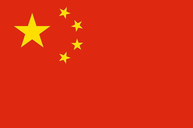 a Chinese flag