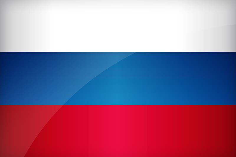 a Russian flag