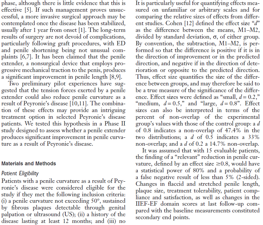 a wall of text from the clinical study