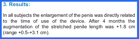 The results of the penis extender study done at University of Turin, Italy