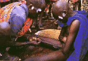 African tribe manual penis stretching