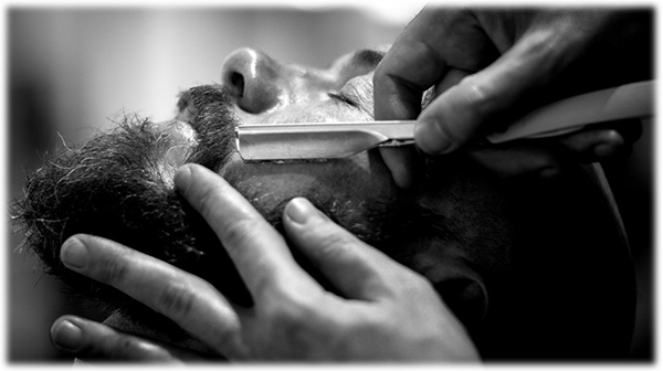 an old-fashioned barber shave
